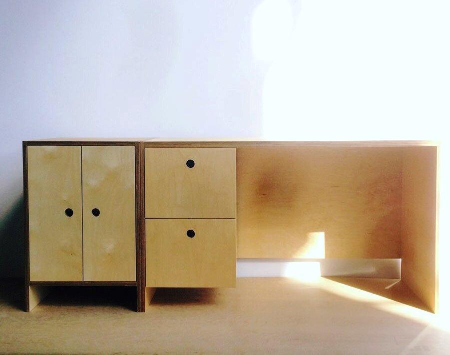 birch ply desk
