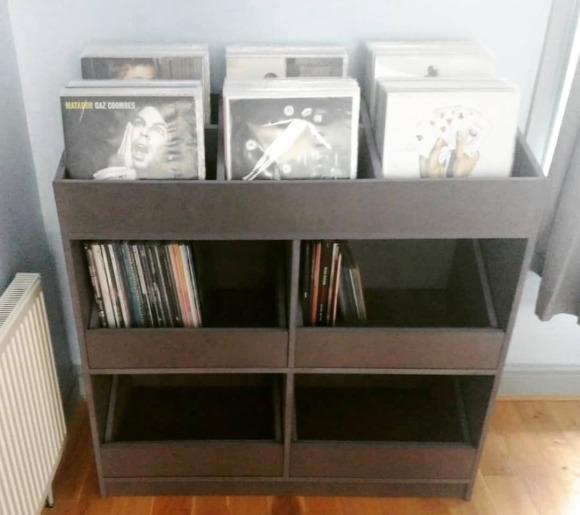 vinyl storage unit and drawers